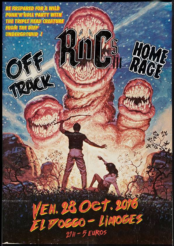 "28 octobre 2016 Off Track, R'n'cs, Home Rage à Limoges ""El Doggo"""