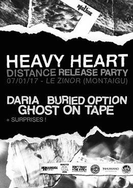 "7 janvier 2017 Daria, Buried Option, Ghost On Tape, Heavy Heart à Montaigu ""le Zinor"""
