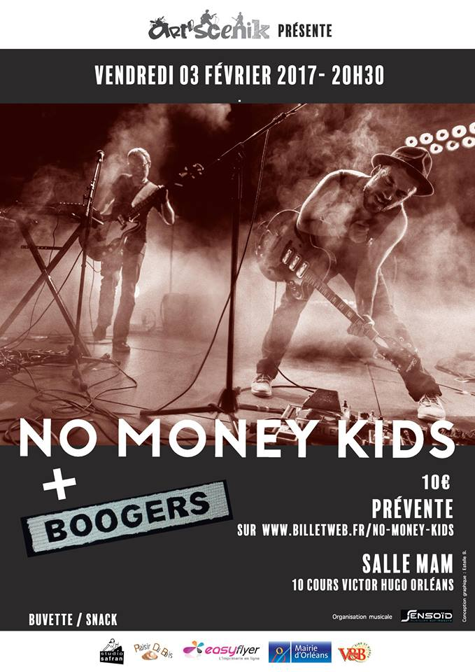 "3 fevrier 2017 Boogers, No Money Kids Live! à Orléans ""Mam"""