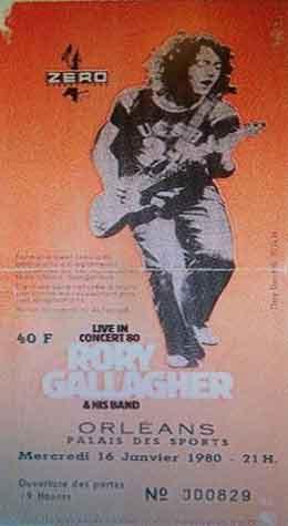 """16 janvier 1980 Rory Gallagher à Orléans """"Palais des Sports"""""""