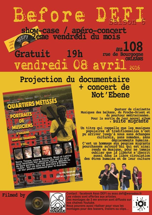 "8 avril 2016 Not Ebene à Orléans ""le 108"""
