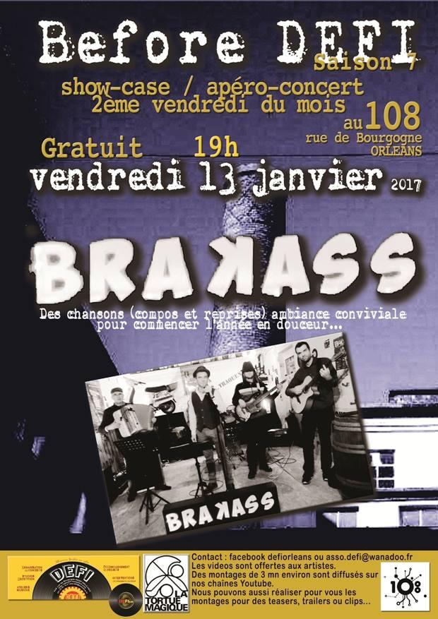 """13 janvier 2017 Brakass à Orléans """"Le 108"""""""