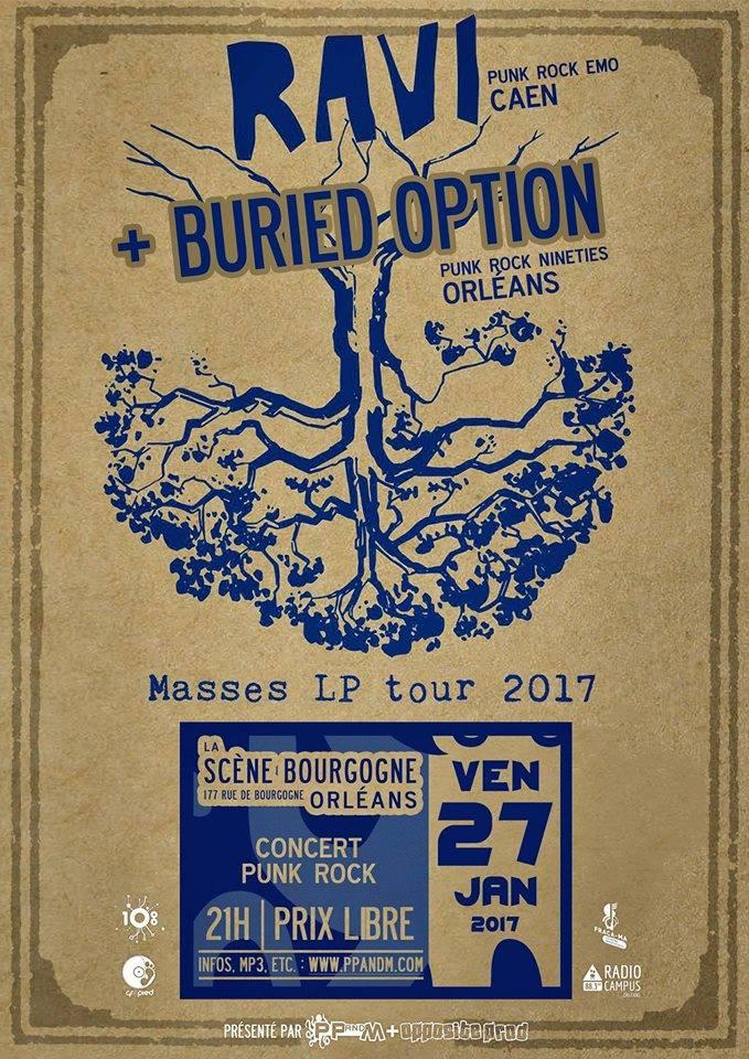 "27 janvier 2017 Buried Option, Ravi à Orléans ""La Scene bourgogne"""