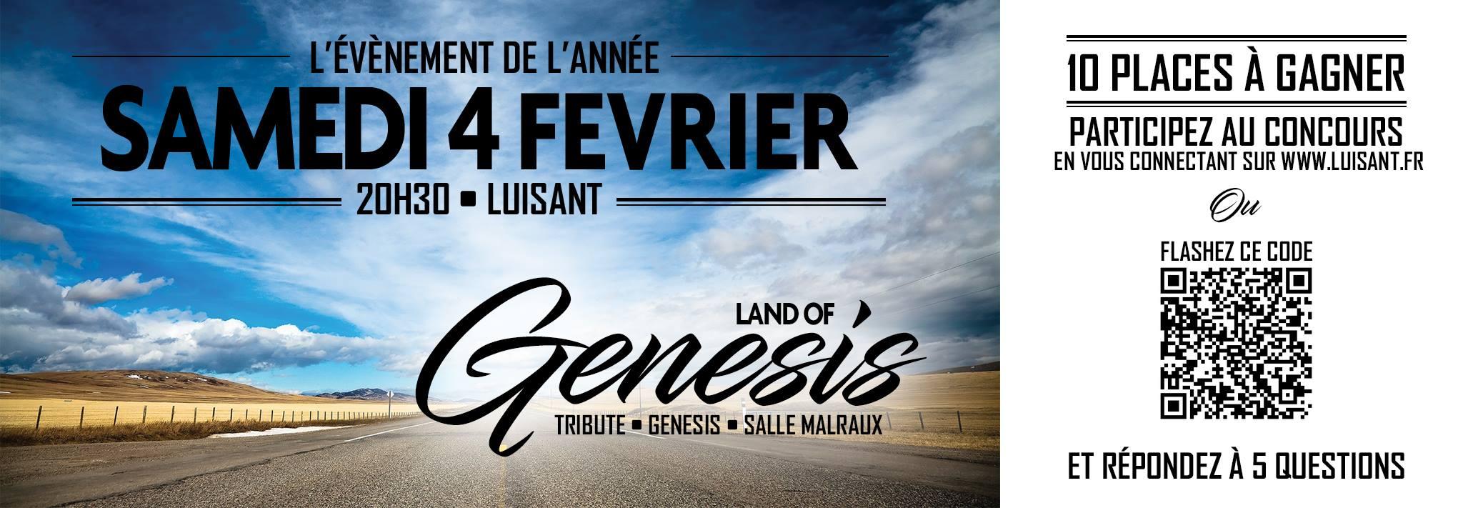 "4 fevrier 2017 Land Of Genesis à Luisant ""Salle Malraux"""