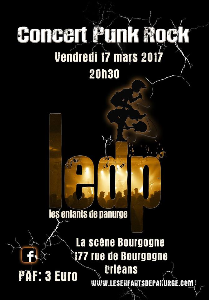 """17 mars 2017 Les Enfants de Panurge à Orléans """"La Scene Bourgogne"""""""