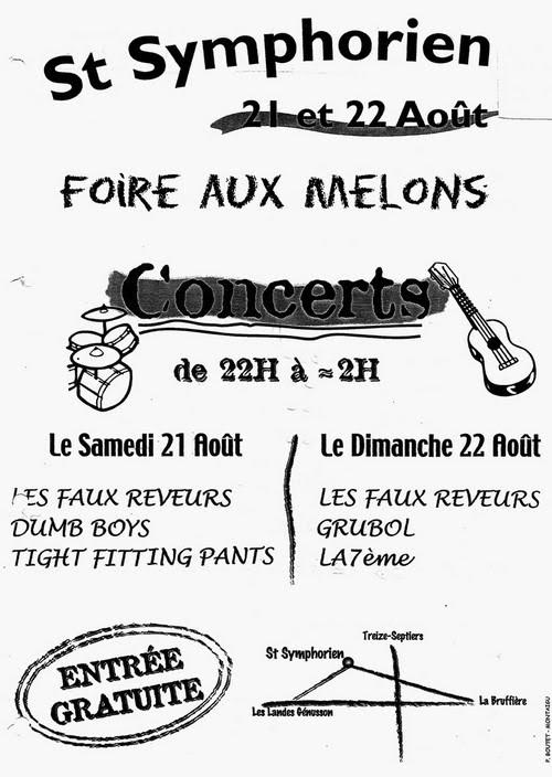 21 aout 2004 Les Faux Reveurs, Dumb Boys, Tight Fitting Pants à Saint Symphorien