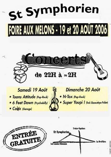 19 aout 2006 Toons attitude, 6 feet down, Coxx à Saint Symphorien