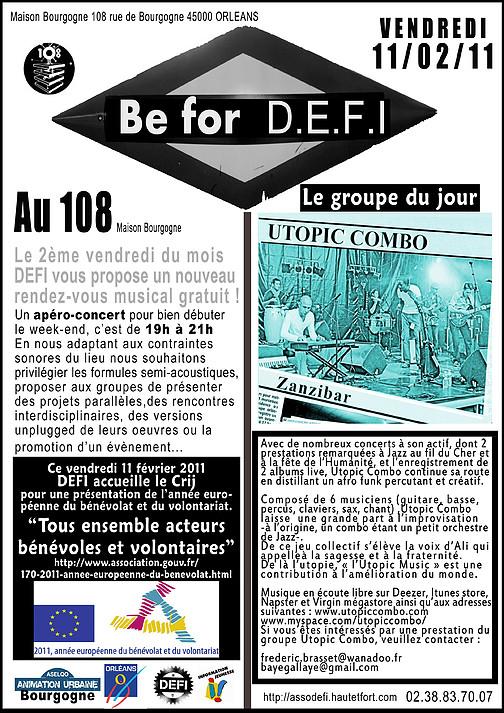 """11 fevrier 2011 Utopic Combo à Orléans """"le 108"""""""