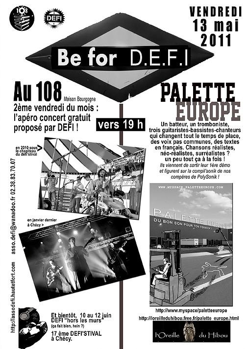 """13 mai 2011 Palette Europe à Orléans """"le 108"""""""