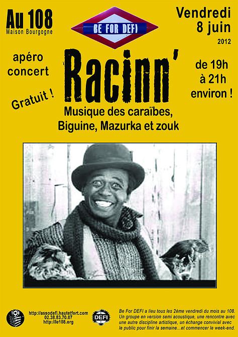 """8 juin 2012 Racinn' à Orléans """"le 108"""""""
