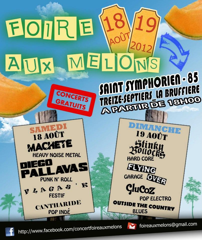 18 aout 2012  Cantharide, Flagas'K, Diego Pallavas, Machete à Saint Symphorien