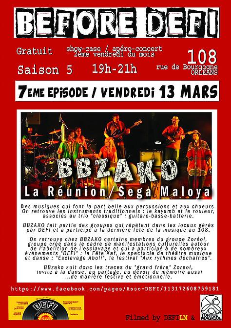 """13 mars 2015 BBzako à Orléans """"le 108"""""""