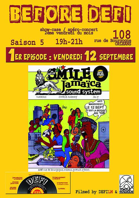 """12 septembre 2014 Smile Jamaica à Orléans """"le 108"""""""