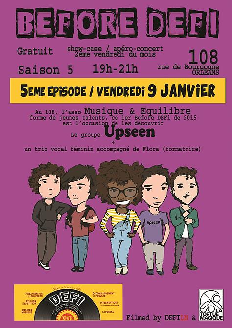 """9 janvier 2015 Upseen à Orléans """"le 108"""""""