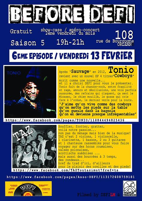 """13 fevrier 2015 Tonio, Taz à Orléans """"le 108"""""""