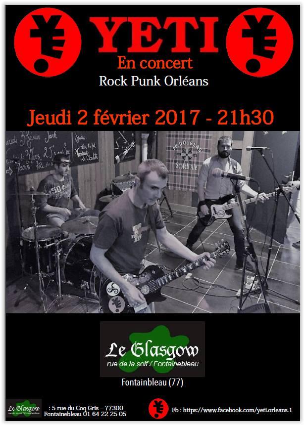 """2 fevrier 2017 Yeti à Fontainebleau """"Le Glasgow"""""""