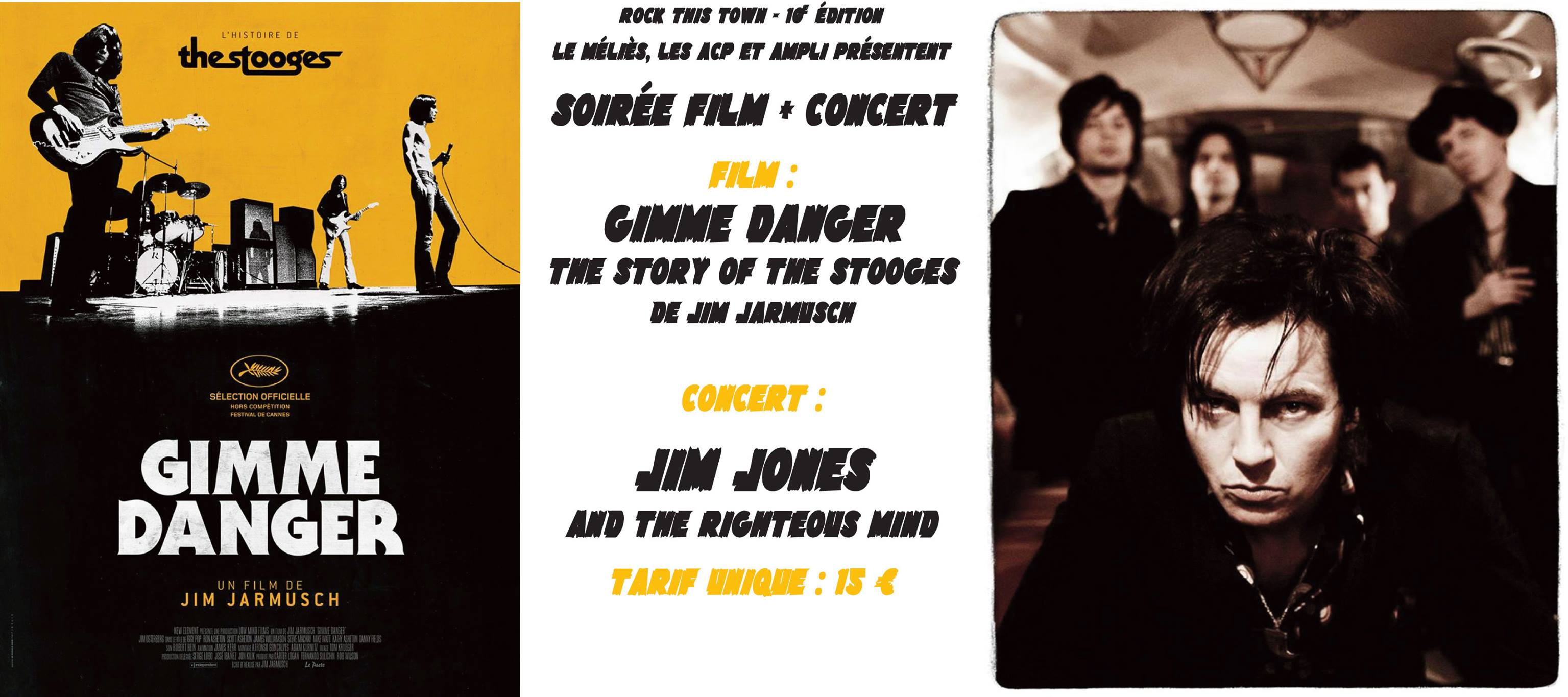 "8 avril 2017 Jim Jones & The Righteous Mind à Pau ""Cinema le Melies"""