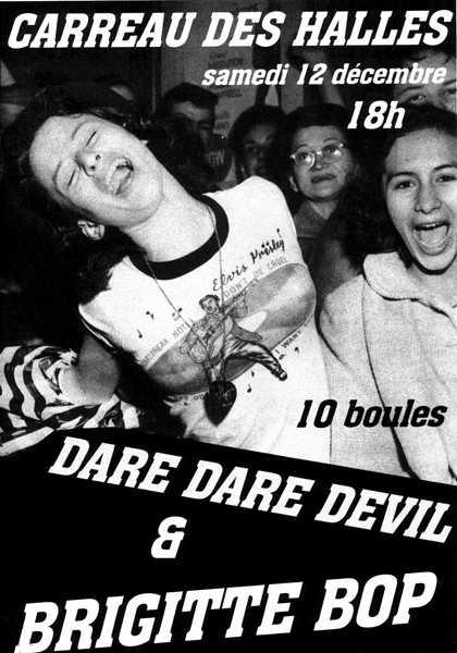 """12 decembre 1998 Brigitte Bop, Dare Dare Devil à Orléans """"le Carreau des Halles"""""""