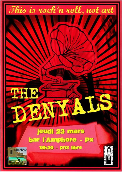 """23 mars 2017 The Denyals à Perigueux """"L'Amphore"""""""