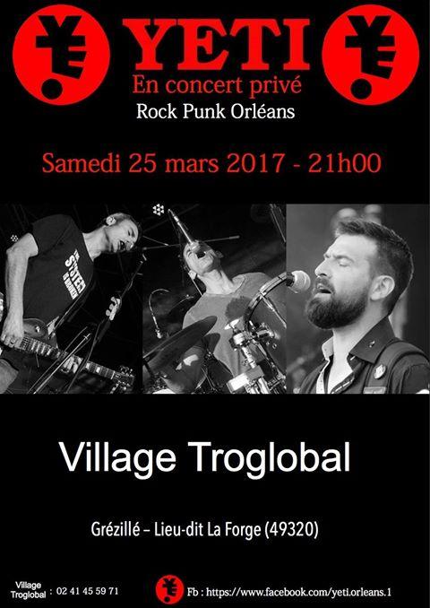 "25 mars 2017 Yeti à Grézillé ""Village Troglobal"" - Concert Privé"