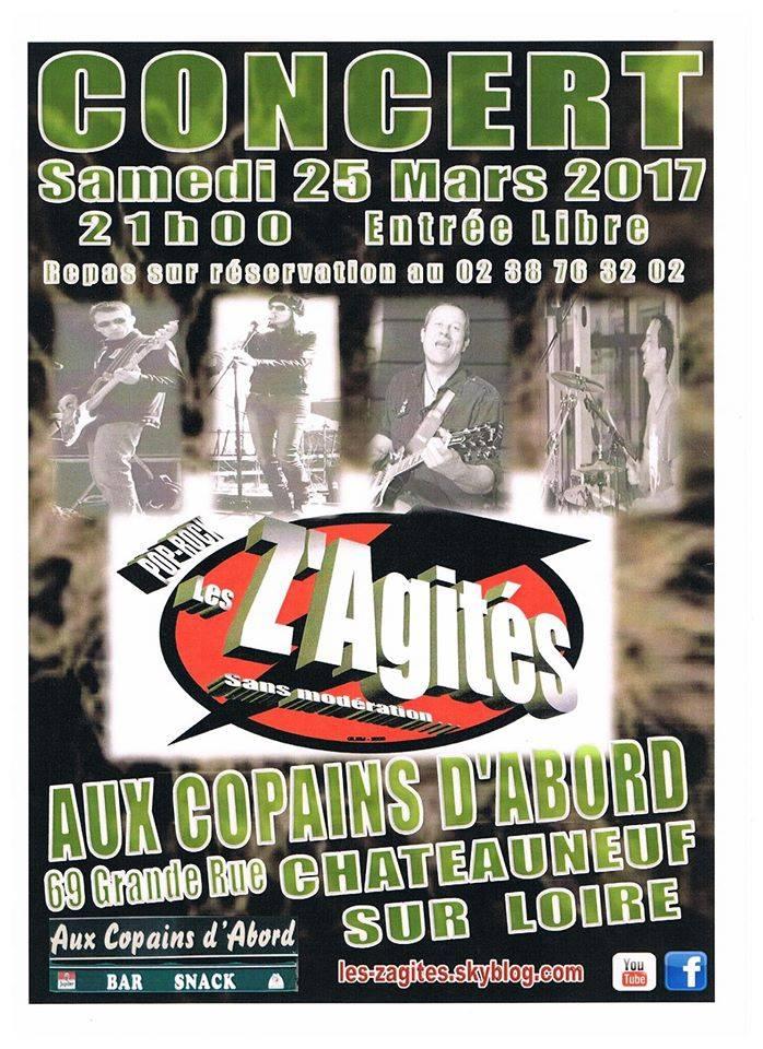 """25 mars 2017 les Z'Agités à Chateauneuf Sur Loire """"Aux Copains d'Abord"""""""