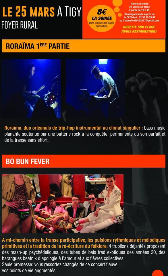 "25 mars 2017 Roraima, Bo Bun Fever à Tigy ""Foyer Rural"""