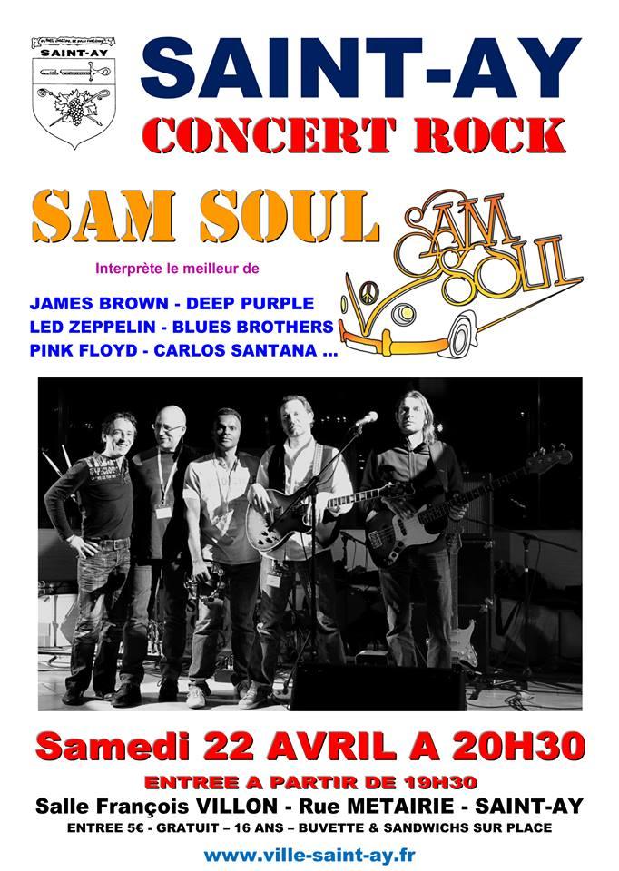 """22 avril 2017 Sam Soul à Saint Ay """"Salle Francois Villon"""""""