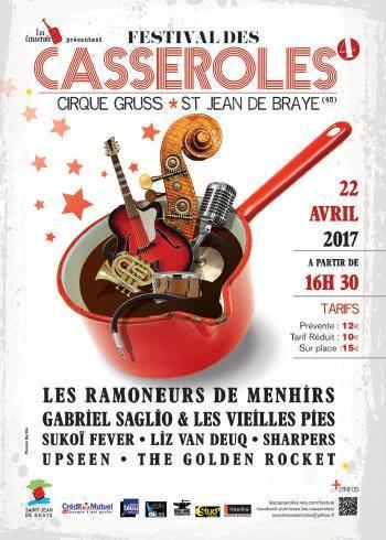 """22 avril 2017 the Golden Rocket, Upseen, Sharpers, Liz Van Deuq, Sukoi Fever, Gabriel Saglio et les Vieilles Pies, Les Ramoneurs de Menhirs à Saint Jean de Braye """"Cirque Gruss"""""""