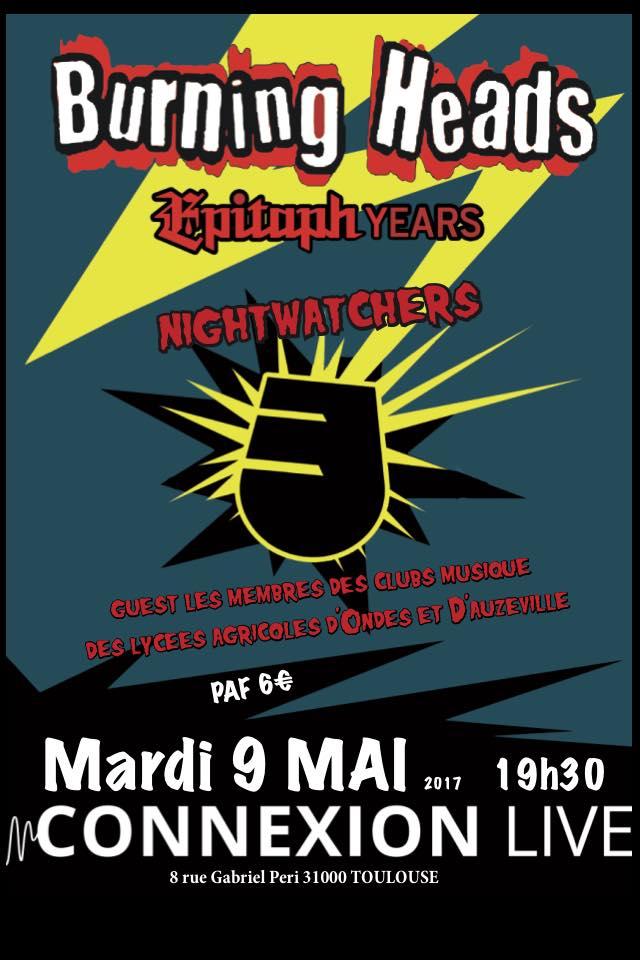 """9 mai 2017 Burning Heads à Toulouse """"Connexion Live"""""""