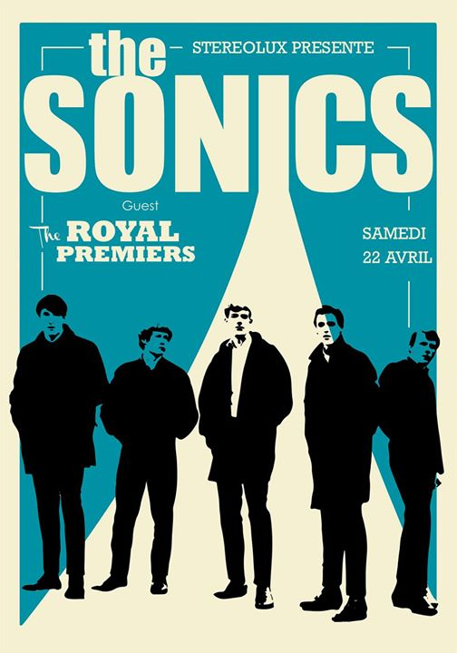 "22 avril 2017 the Royal Premiers, The Sonics à Nantes ""Stereolux"""