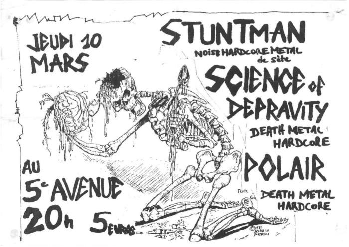"""10 mars 2011 Science Of Depravtiy, Polair, Stuntman à Orléans """"5ème Avenue"""""""
