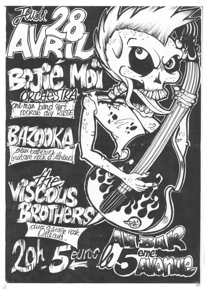 28 avril 2011 Bozhe Moi! Orkestra, Viscous Brothers, Bazooka à Orléans le 5ème Avenue