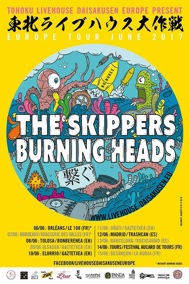 The Skippers, Burning Heads Europe Tour