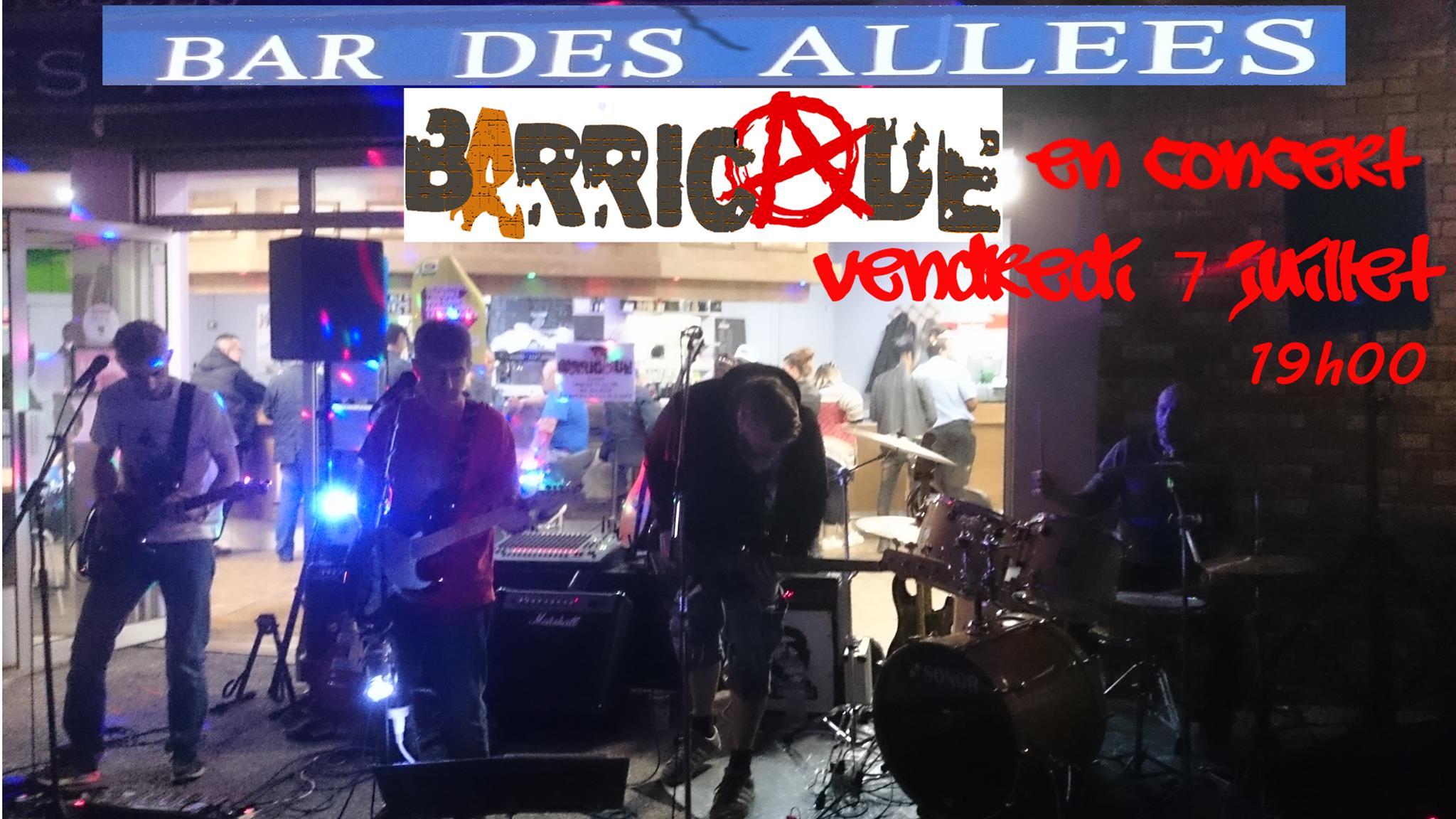 """7 juillet 2017 Barricade à Blois """"Bar des Allées"""""""