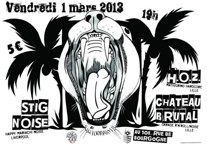 """1er mars 2013 Stig Noise, HOZ, NW à Orléans """"le 108"""""""