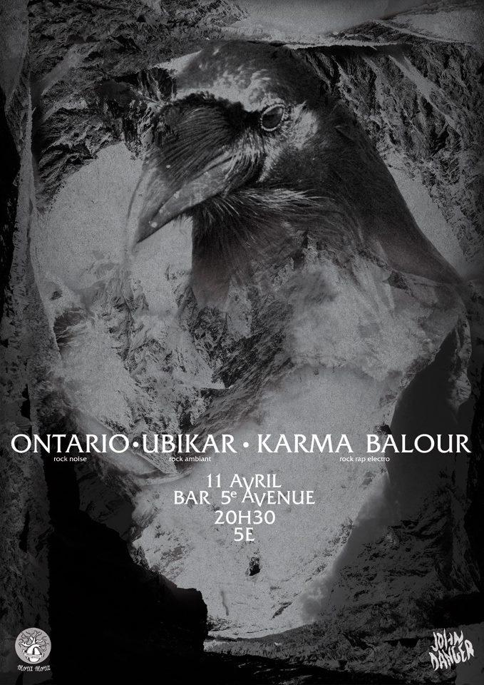 """11 avril 2013 Ontario, Ubikar, Karma Balour à Orléans """"5eme Avenue"""""""