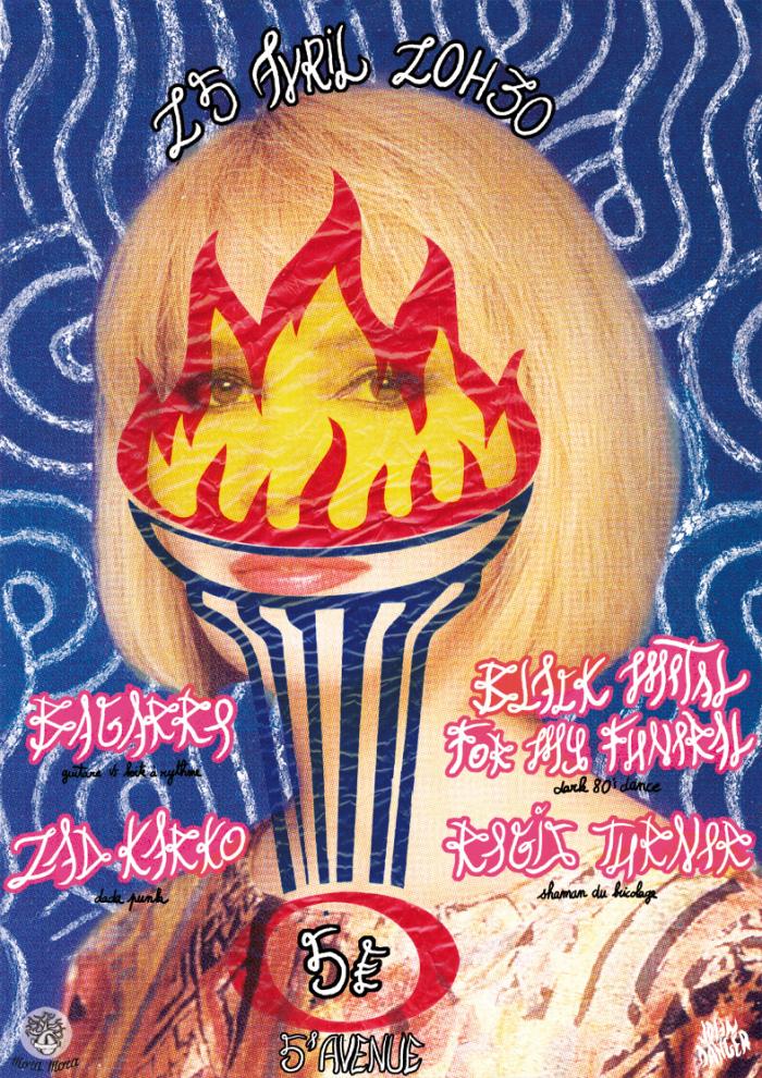 """25 avril 2013 Zad Cokar, Bagarre, Regis Turner, Black Metal For My Funeral à Orléans """"5ème Avenue"""""""