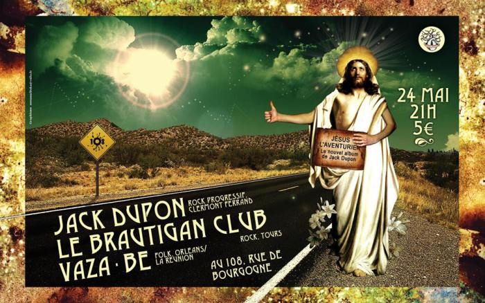 "24 mai 2013 Jack Dupon, Le Brautigan Club, Vaza Be, Ultrateckel à Orléans ""le 108"""