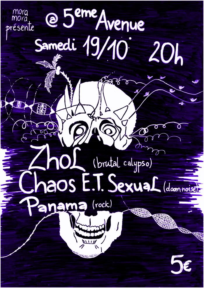 """19 octobre 2013 Zhol, Chaos ET Sexual, Panama à Orléans """"5ème Avenue"""""""