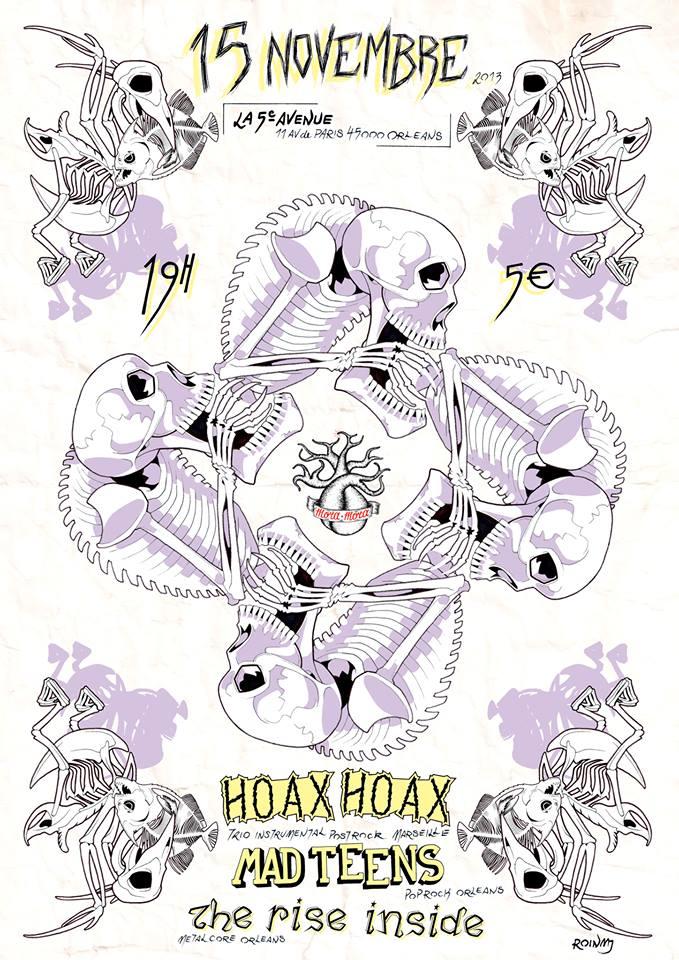 """15 novembre 2013 Hoax Hoax, The Rise Inside à Orléans """"5eme Avenue"""""""