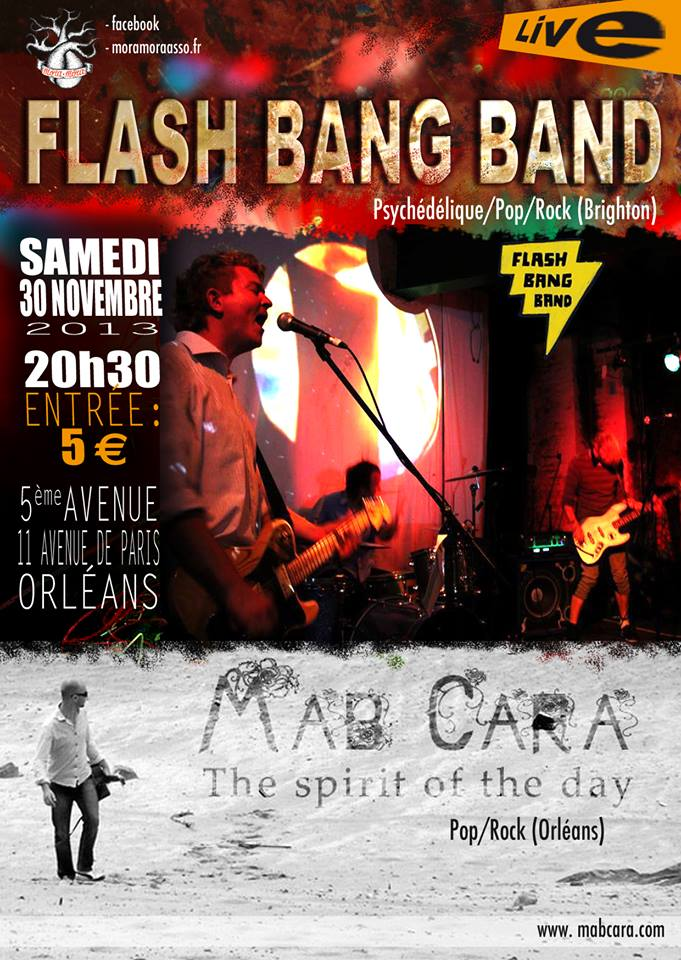 "30 novembre 2013 Flash Bang Band, Mab Cara à Orléans ""5ème Avenue"""