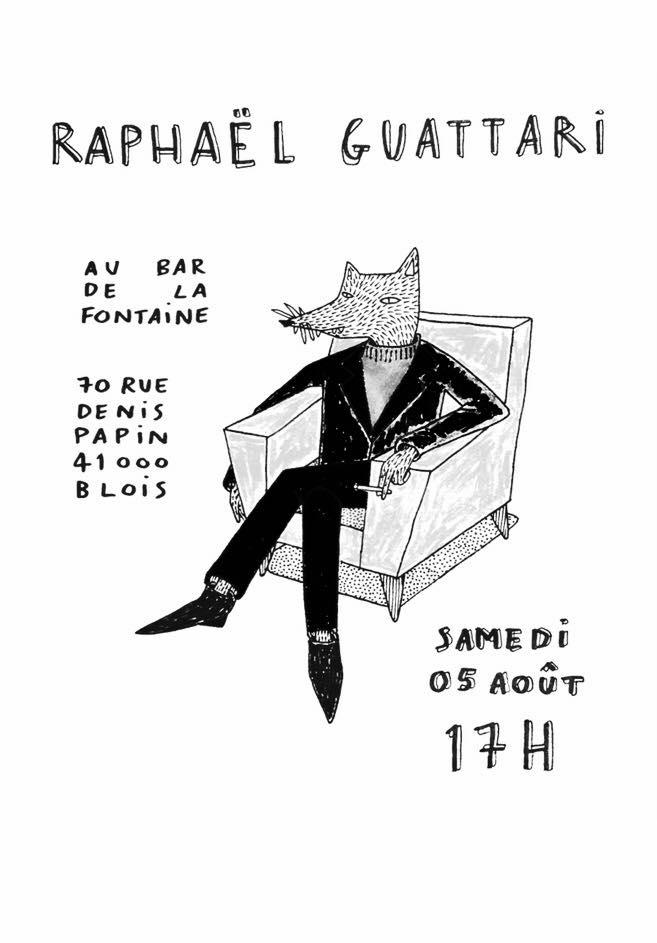 """5 aout 2017 Raphaël Guattari à Blois """"la Fontaine"""""""