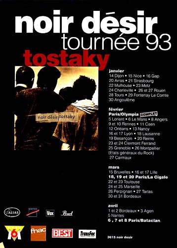 Noir Desir Tournée 1993