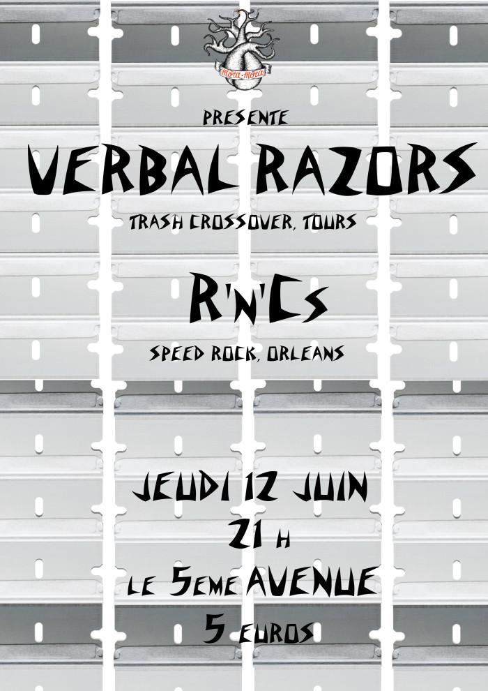 """12 juin 2014 Verbal Razors, R'n'Cs à Orléans """"5ème Avenue"""""""