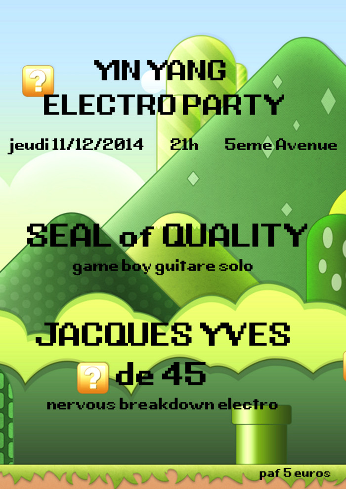 "11 decembre 2014 Seal Of Quality, Jacques yves de 45 à Orléans ""5ème Avenue"""