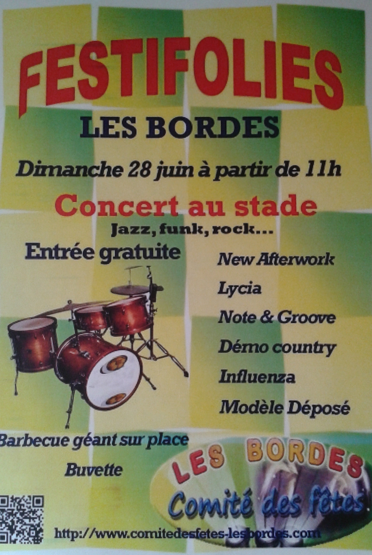 "28 juin 2015 New After Work, Lycia, Note & Grove, Demo Country, Influenza, Modele Deposé aux Bordes ""Stade"""