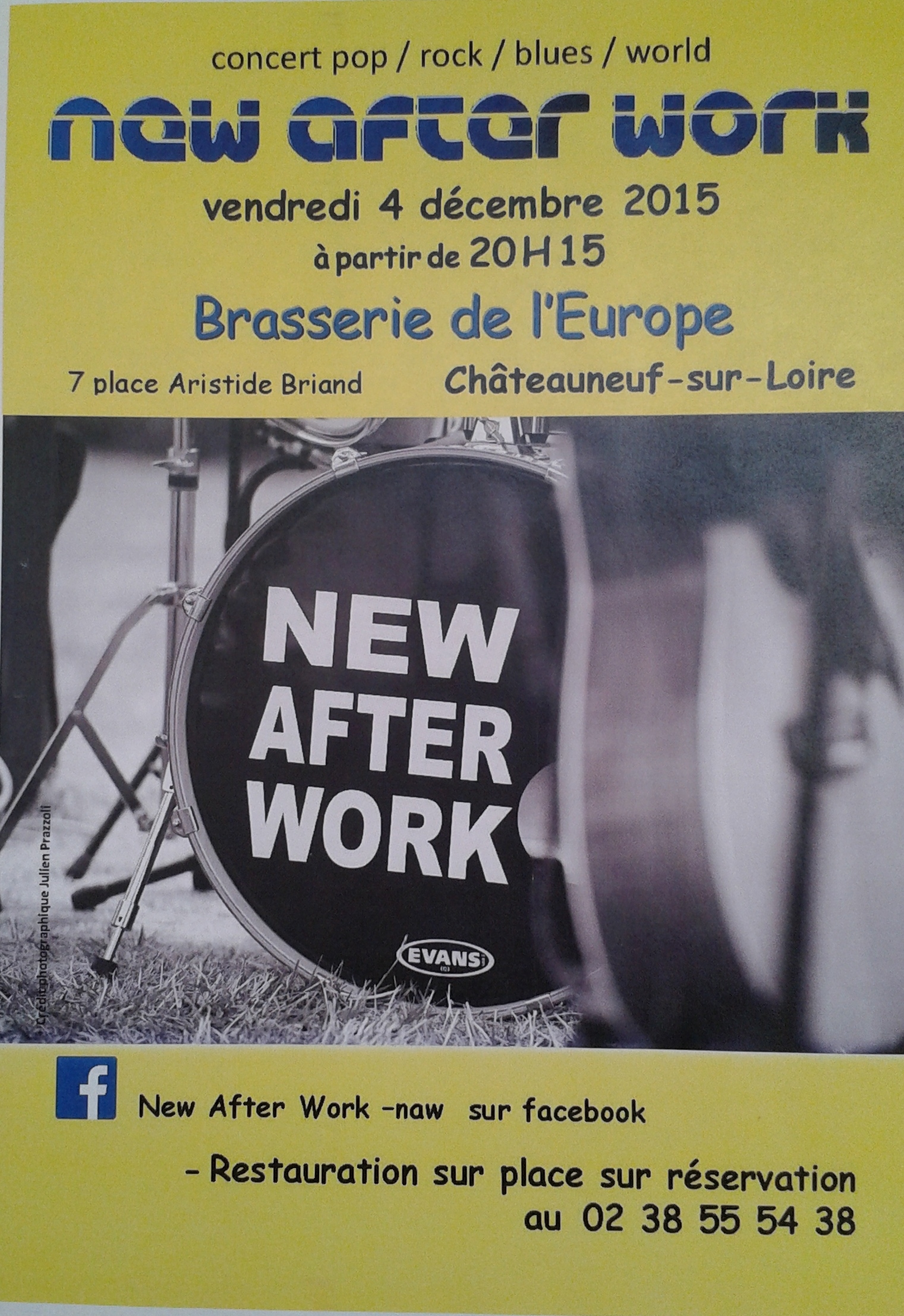 "4 decembre 2015 New After Work à Chateauneuf Sur Loire ""Brasserie de L'Europe"""