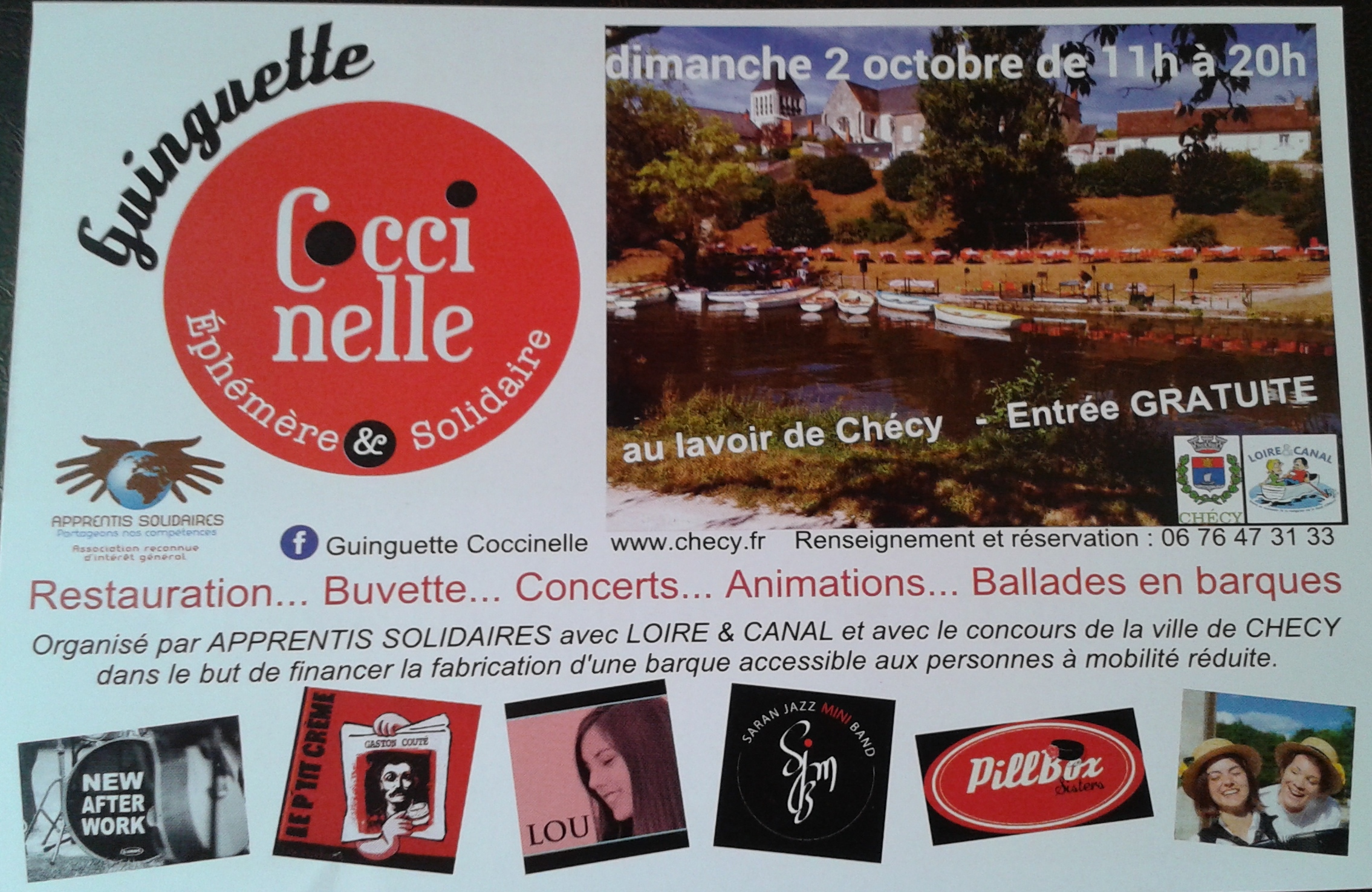 "2 Octobre 2016 Le P""tit Creme, New After Work à Checy ""le Lavoir"""