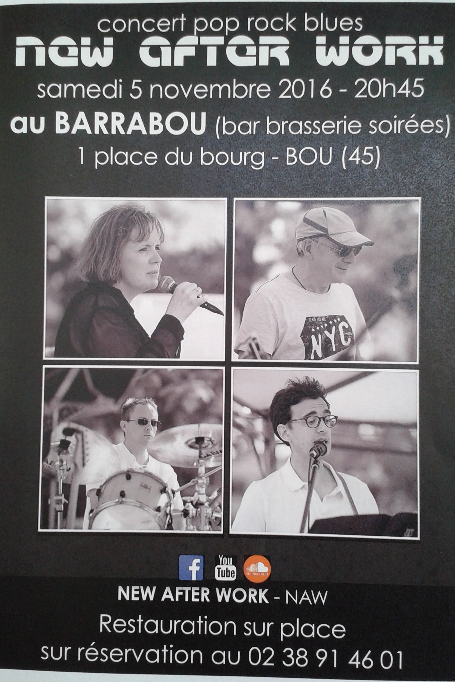 "5 Novembre 2016 New After Work à Bou ""Barabou"""
