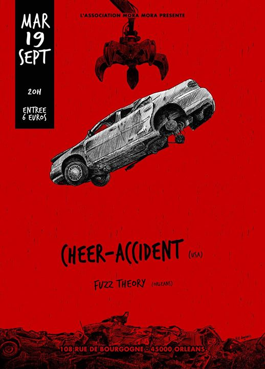 "19 septembre 2017 Fuzz Theory, Cheer Accident à Orléans ""le 108"""
